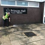 Cleaning the paving at Princes Hall Theatre Aldershot 6
